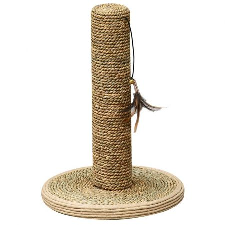 Pet Pals Pet Pals Seagrass Scrratching Post with Feather Toy