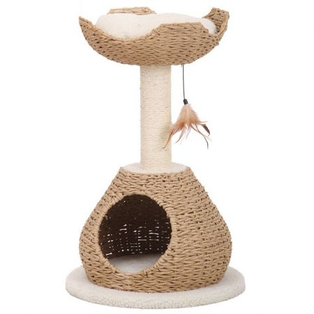 Pet Pals Recycled Paper Cat House with Perch