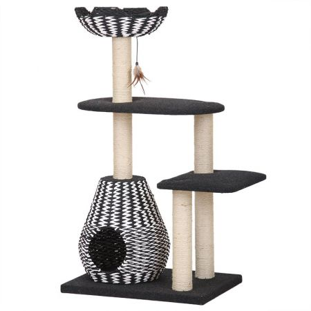 Pet Pals Pet Pals Contemporary 4-Level Cat House with Feather Teaser