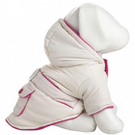Pet Life Pet Life Beige & Pink Dog Parka with Removable Hood