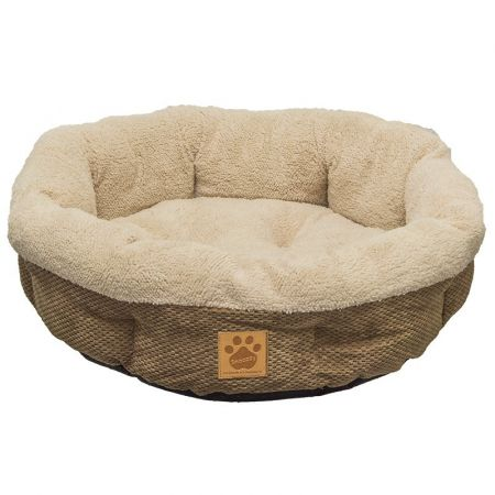 Precision Pet Precision Pet Natural Surroundings Shearling Dog Donut Bed - Coffee