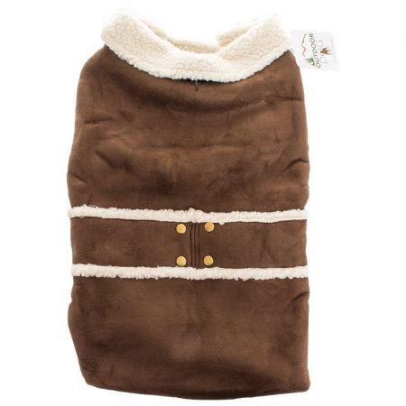 Fashion Pet Fashion Pet Shearling Dog Blanket/Coat - Brown