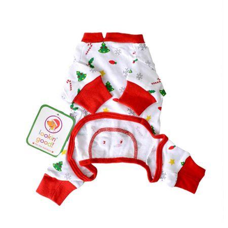 Fashion Pet Fashion Pet Holiday Cheer Dog Pajamas - Red & White