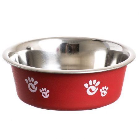 Spot Spot Barcelona Matte & Stainless Steal Pet Dish - Raspberry