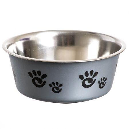 Spot Spot Barcelona Matte & Stainless Steal Pet Dish - Silver