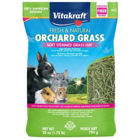 Vitakraft Fresh & Natural Orchard Grass - Soft Stemmed Grass Hay