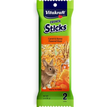 Vitakraft Vitakraft Triple Baked Crunch Sticks for Rabbits - Carrot & Yogurt Flavor