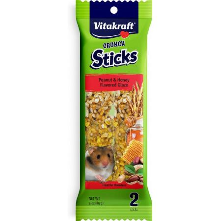 Vitakraft Vitakraft Crunch Sticks Peanut & Honey Flavored Glaze for Hamsters