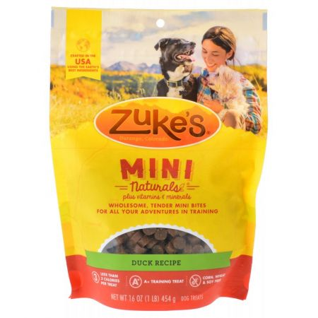 Zukes Zuke's Mini Naturals Moist Dog Treats - Delicious Duck Recipe