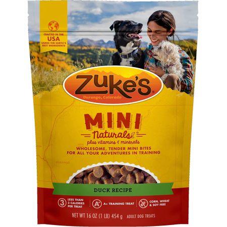 Zukes Zuke's Mini Naturals Moist Dog Treats - Delicious Duck Recipe