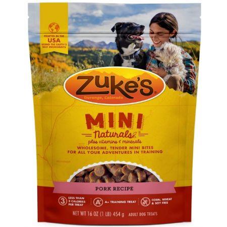 Zukes Zuke's Mini Naturals Moist Dog Treats - Roasted Pork Recipe