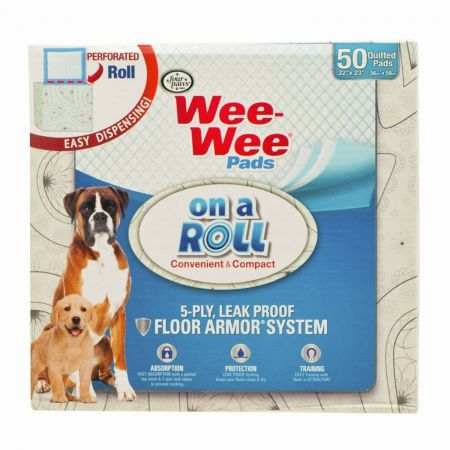 Four Paws Four Paws Wee Wee Pads On A Roll Compact Dispenser
