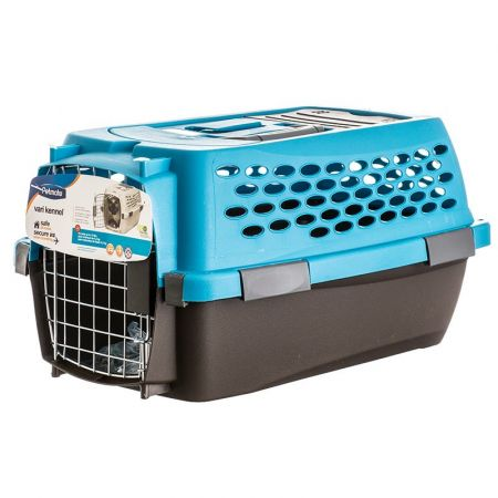 Petmate Petmate Vari Kennel Ultra - Breeze Blue/Coffee Brown