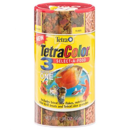 Tetra TetraColor Select A Food for Fish - Flakes, Granules & Krill