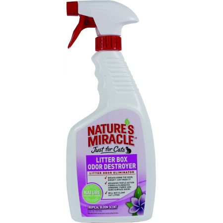Natures Miracle Nature's Miracle Just For Cats Litter Box Odor Destroyer - Tropical Bloom Scent Spray