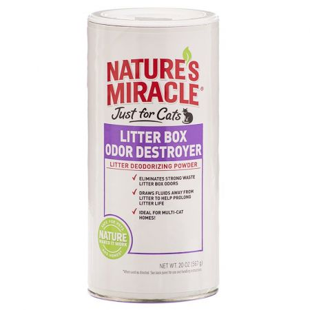 Natures Miracle Nature's Miracle Just For Cats Litter Box Odor Destroyer - Deodorizing Powder