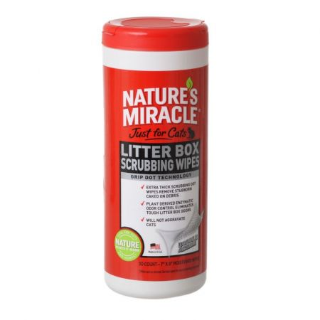 Natures Miracle Nature's Miracle Just For Cats Litter Box Wipes