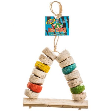 Bird Kabob Wesco Bird Kabob Shreddable Bird Perch Toy - Carnival