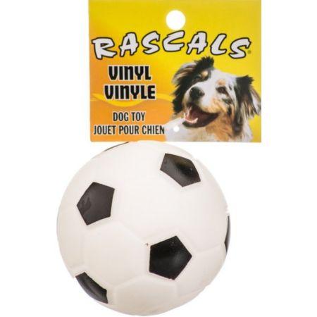 Coastal Pet Rascals Vinyl Soccer Ball for Dogs - White