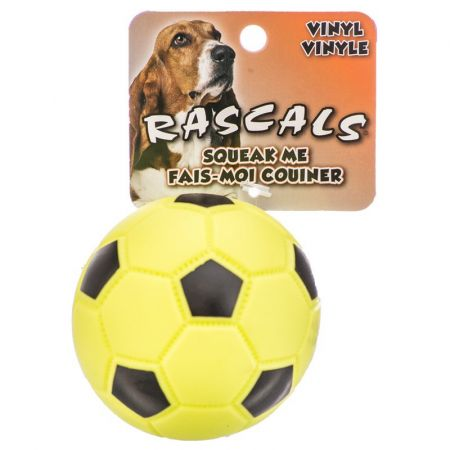 Coastal Pet Rascals Vinyl Soccer Ball for Dogs - Lime Green