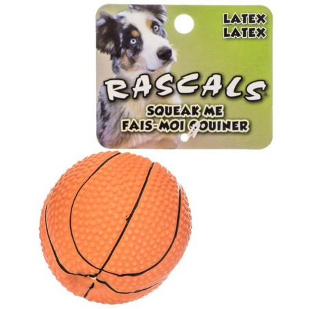 Coastal Pet Rascals Latex Basketball Dog Toy