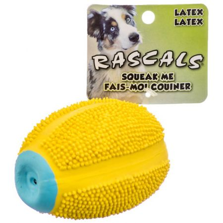 Coastal Pet Rascals Latex Spiny Football Dog Toy - Yellow