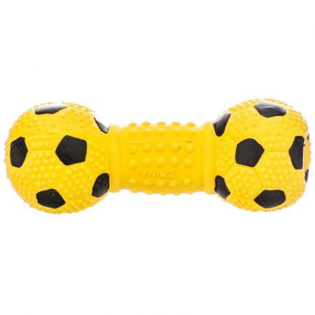 Coastal Pet Rascals Latex Soccer Ball Dumbbell Dog Toy - Blue