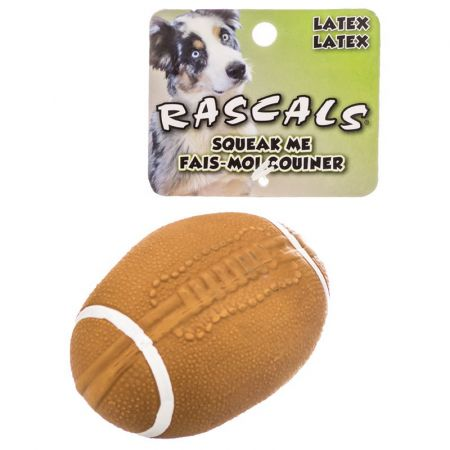 Coastal Pet Rascals Latex Football Dog Toy - Brown