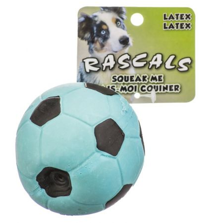Coastal Pet Rascals Latex Soccer Ball for Dogs - Blue