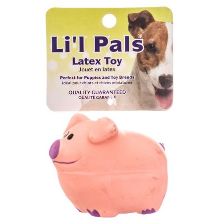 Li'l Pals Lil Pals Latex Pig Dog Toy