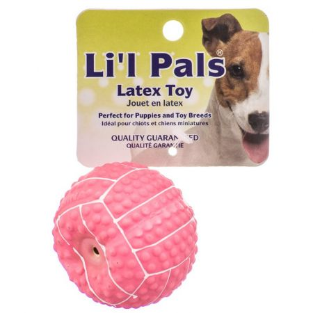 Li'l Pals Lil Pals Latex Mini Volleyball for Dogs - Pink