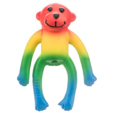 Li'l Pals Lil Pals Latex Monkey Dog Toy - Rainbow