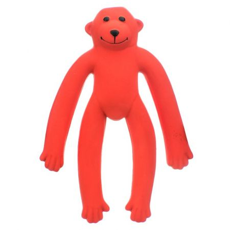 Coastal Pet Rascals Latex Long-Legged Monkey Dog Toy - Red
