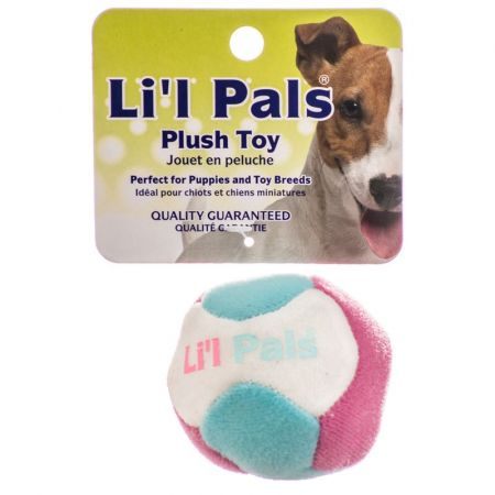 Li'l Pals Lil Pals Multi Colored Plush Ball with Bell for Dogs