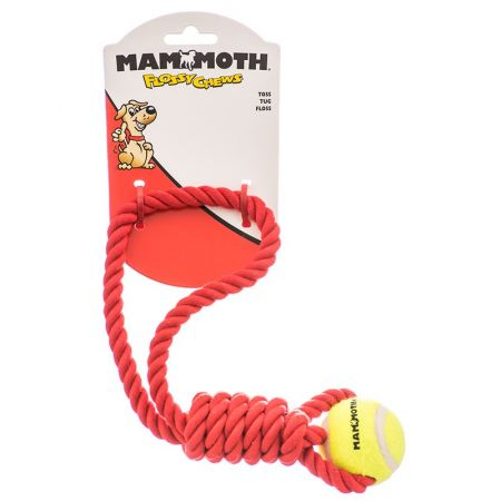 Mammoth Flossy Chews Twister Tug with Tennis Ball