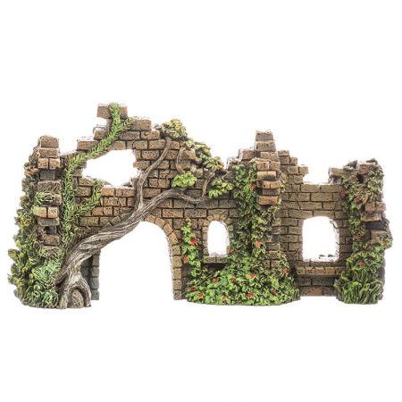 Blue Ribbon Pet Products Blue Ribbon Exotic Environments Cobblestone Castle Walls Aquarium Ornament