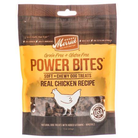 Merrick Merrick Power Bites Soft & Chewy Dog Treats - Real Chicken Recipe