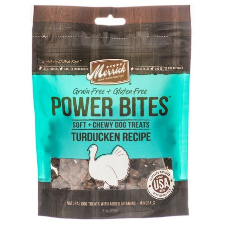 Merrick Merrick Power Bites Soft & Chewy Dog Treats - Turducken Recipe