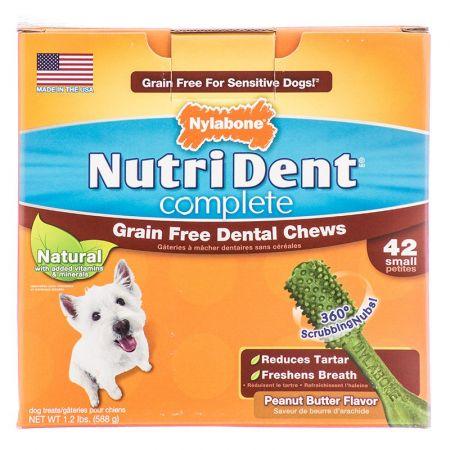 Nylabone Nylabone NutriDent Complete Grain Free Dental Dog Chews - Peanut Butter Flavor