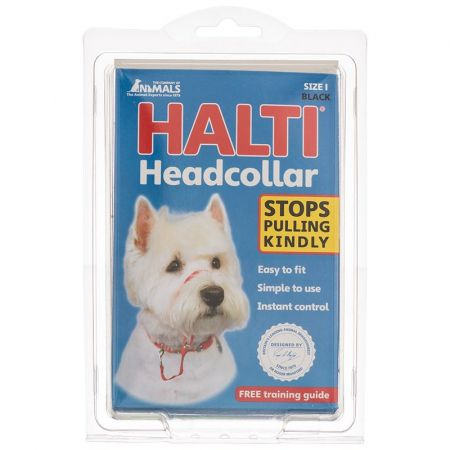 Company of Animals Halti Original Headcollar for Dogs Black
