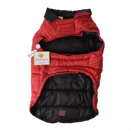 Fashion Pet Lookin' Good Reversible Arctic Dog Coat - Red/Black