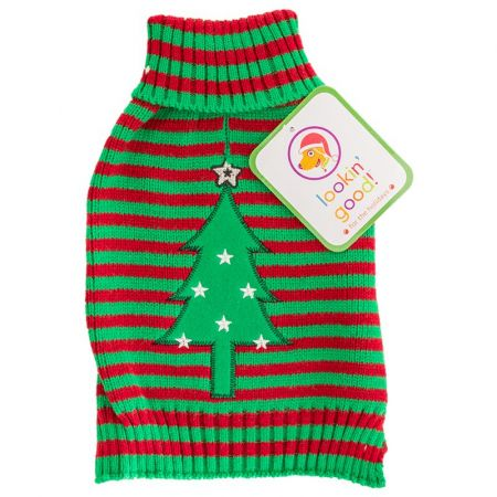 Fashion Pet Lookin' Good Striped Holiday Dog Sweater