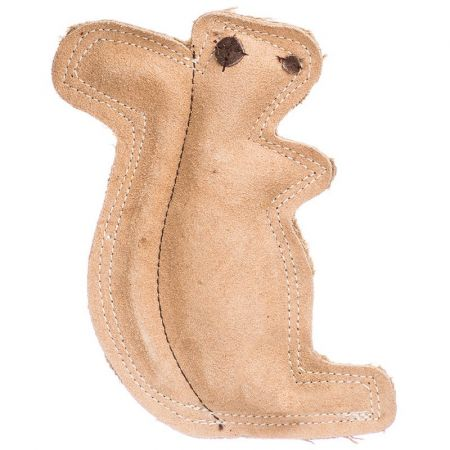 Spot Spot Dura-Fused Leather Squirrel Dog Toy