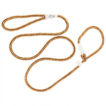 Coastal Pet K9 Explorer Reflective Braided Rope Slip Leash - Campfire Orange