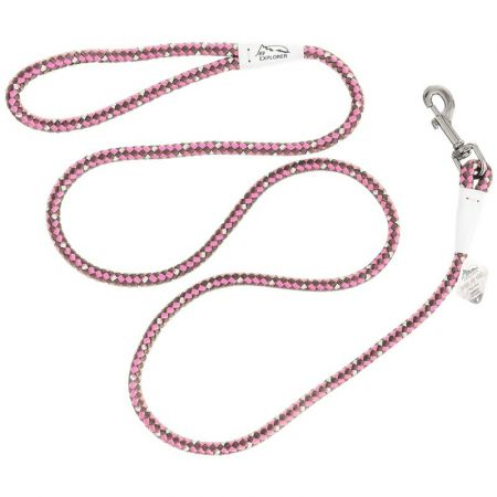 Coastal Pet K9 Explorer Reflective Braided Rope Snap Leash - Rosebud