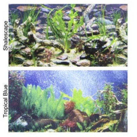 Penn Plax Penn Plax Double-Back Aquarium Background - Tropical Blue / Shalescape