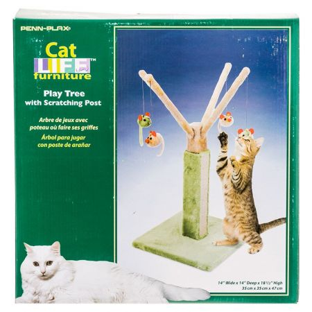 Penn Plax Penn Plax Cat Life Cat Play Tree with Scratching Post - Blue