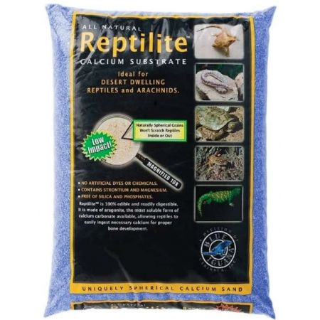 Caribsea Blue Iguana Reptilite Calcium Substrate for Reptiles - Big Sky Blue