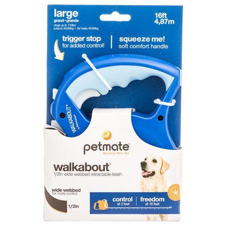Aspen Pet Aspen Pet Walkabout Webbed Retractable Dog Leash - Blue