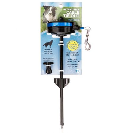 Lixit Howard Pet Retractable Cable Tie Out Stake for Dogs